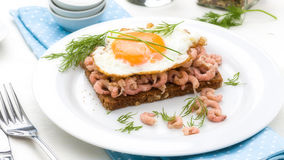 螃蟹面包 免版税库存照片