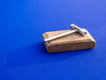 螃蟹食物的锤子 图库摄影