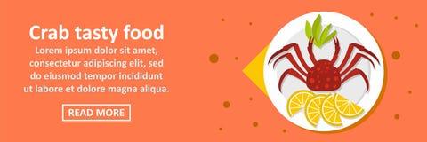 螃蟹鲜美食物横幅水平的概念 皇族释放例证