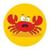 螃蟹 安卡拉 字符 愤怒和怨气的情感 也corel凹道例证向量 库存例证