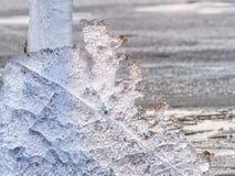 融化冰河和上升的河水平 危险人类行为的结果 库存图片