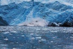 融化冰河在阿拉斯加 免版税库存图片