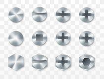 螺丝、铆钉和螺栓集合 r 皇族释放例证