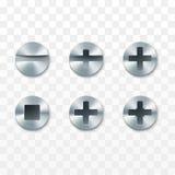 螺丝、铆钉和螺栓集合 r 库存例证