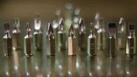 螺丝刀发光的金属集合头 免版税库存照片