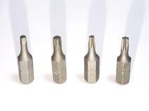 螺丝刀的位有一个不同的槽孔的 免版税图库摄影