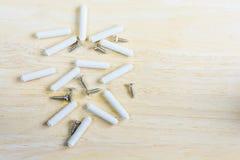 螺丝和固定螺栓塑料 免版税图库摄影