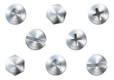 螺丝和螺栓 向量例证