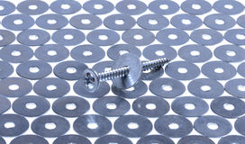 螺丝和洗衣机 图库摄影