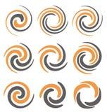 螺旋和漩涡 库存例证