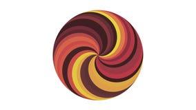 螺旋圈子形状上色无缝的圈自转动画背景新的质量普遍行动动态生气蓬勃 向量例证