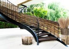 螺旋圈子楼梯装饰内部 免版税库存图片
