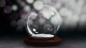 螺旋地移动雪地球的闪耀的光 股票视频