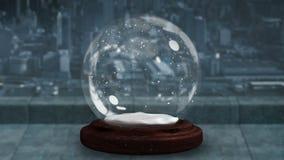 螺旋地移动雪地球的闪耀的光 影视素材