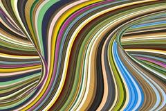 螺旋多色与波浪打开顶面摘要 免版税库存图片