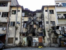 螺旋形楼梯在吉隆坡马来西亚 图库摄影