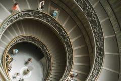 螺旋形楼梯在梵蒂冈 免版税图库摄影
