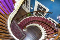 螺旋形楼梯在Darrow种植园 免版税库存照片