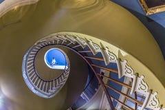 螺旋形楼梯在Darrow种植园 免版税库存图片