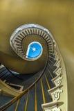 螺旋形楼梯在Nottoway 免版税库存照片