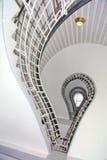 螺旋形楼梯,捷克立体派布拉格博物馆  免版税库存照片