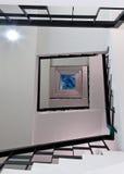 螺旋方形楼梯占去 免版税库存照片