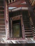 螺旋方形楼梯 免版税图库摄影