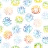 螺旋无缝的背景 与螺旋的传染媒介样式 边界月桂树离开橡木丝带模板向量 库存图片