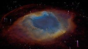 螺旋星云的独特的微粒休闲 向量例证