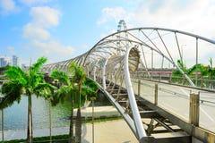 螺旋桥梁在新加坡 库存图片