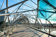 螺旋桥梁在新加坡 免版税图库摄影