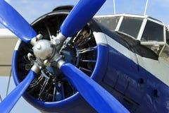 螺旋桨推进式飞机引擎 库存图片