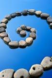 螺旋石头 库存照片