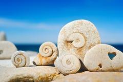 螺旋石头 图库摄影
