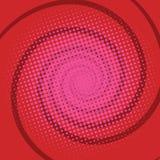 螺旋红色漫画减速火箭的背景 免版税库存图片