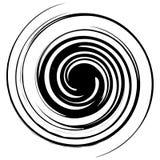 螺旋,转动例证 与辐形样式的抽象元素 向量例证