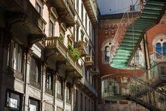 螺旋玻璃楼梯 免版税图库摄影