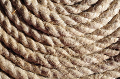 螺旋绳索纹理 免版税库存照片