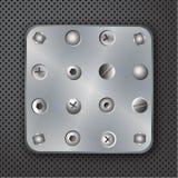 螺栓例证铆牢螺丝 免版税库存照片
