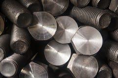 螺栓和坚果生产 免版税库存照片