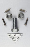 螺栓和坚果的面孔 免版税库存图片