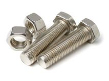 螺栓和螺母 免版税库存照片