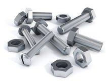 螺栓和螺母 库存例证