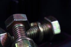 螺栓和螺母1 图库摄影