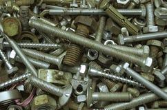 螺栓螺母螺丝 免版税库存照片