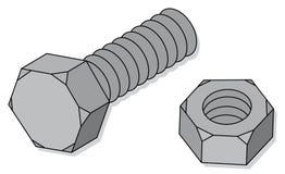 螺栓螺母 库存例证