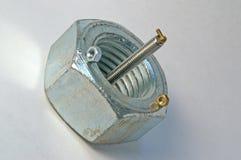 螺栓螺母 库存照片