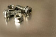 螺栓金属螺母 库存图片