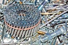 螺栓钉子螺母螺丝 库存图片