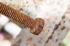 螺栓头老生锈的螺丝轮子 免版税库存照片